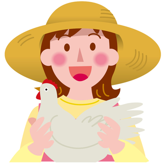 Various occupations - poultry farming