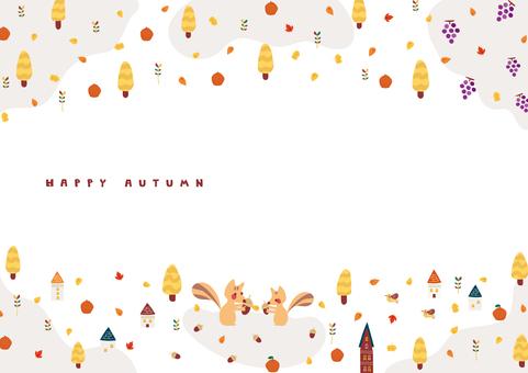 Autumn animal frame