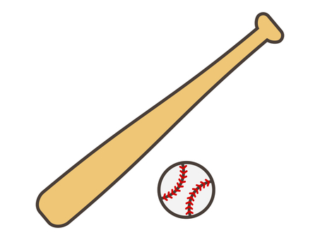 Baseball bat & ball 2