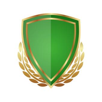 Three-dimensional button emblem style icon