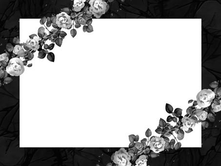 薔薇フレーム 黒