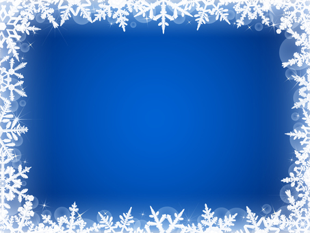 Winter Background · Snow Crystal Frame