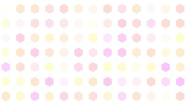 Background hexagon tile pink yellow