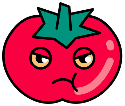 Anthropomorphization of tomato - angry face