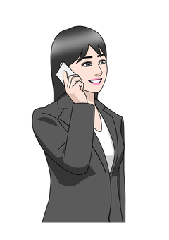 Business suit woman smartphone call
