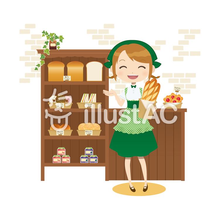 パン屋さんイラスト No 63011無料イラストならイラストac