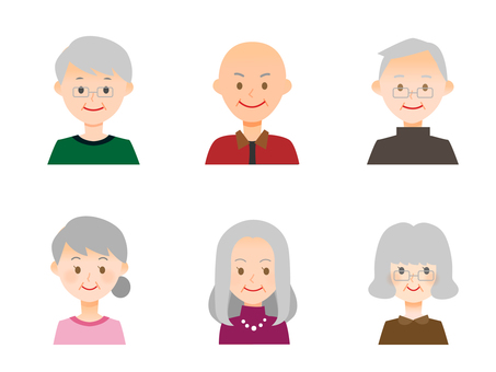 Various old men and women