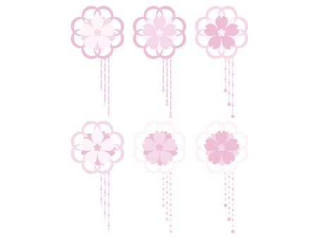 Cherry blossom ornament