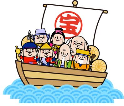 Uncle Fairy Seven Lucky God's treasure ship