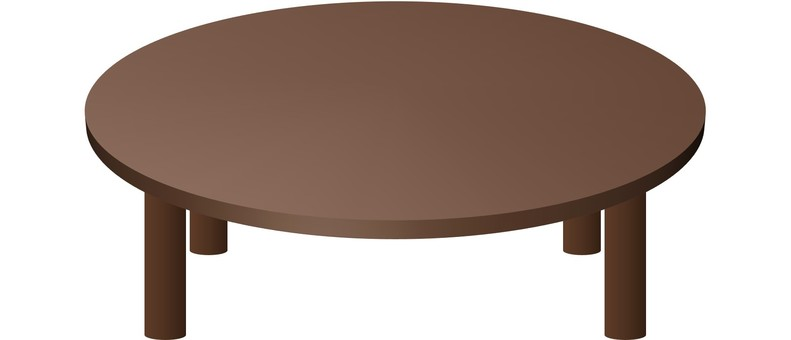 Round table (brown)