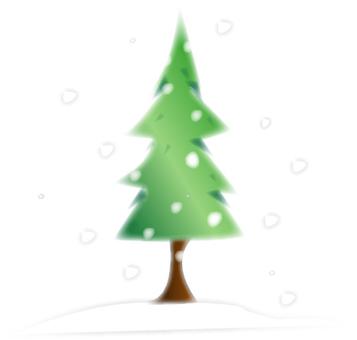 Snow dancing tree