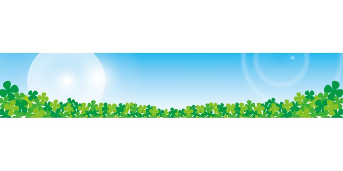 Fresh green leafy field (band · title background)