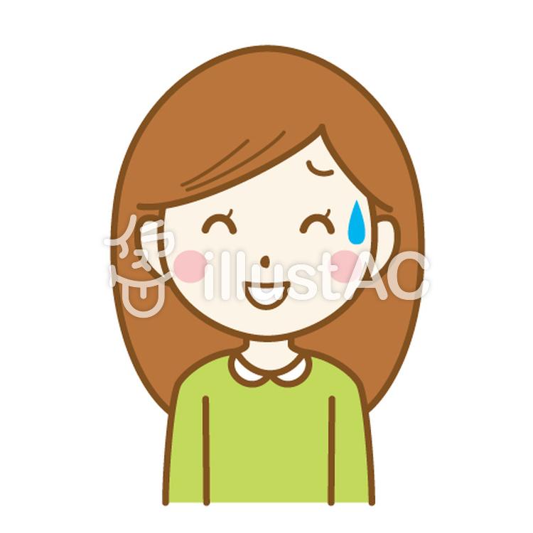 苦笑いの女性イラスト - No: 384236/無料イラストなら「イラストAC」