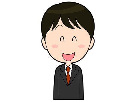 Male office worker in a smiling suit _002