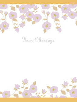 Chic flower message card