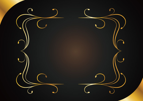 Decorative ruled frame 005_ gold