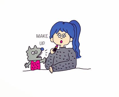 Girl to make up