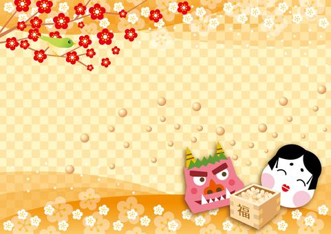 Background of February's Setsubun (grid)