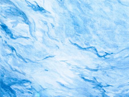 Watercolor water blue