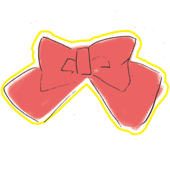 Ribbon red gift