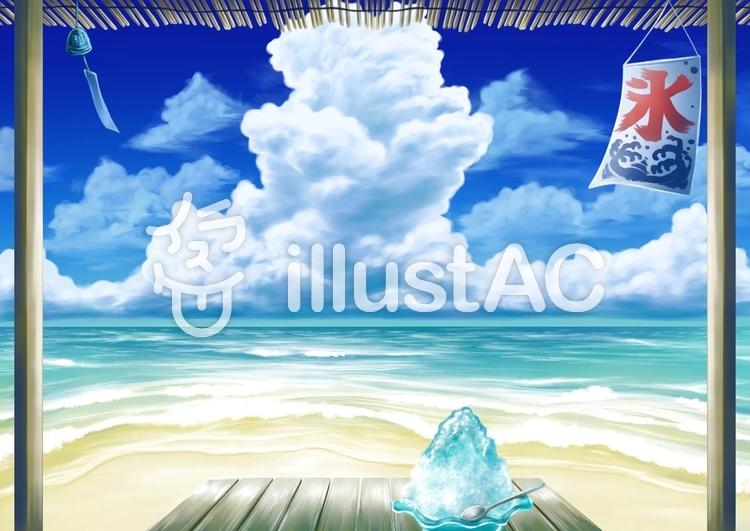 海の家から見た風景