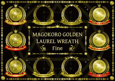 Magical golden laurel crown Fine