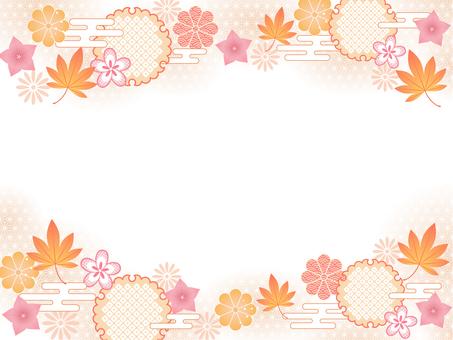 秋の和柄フレーム
