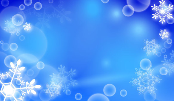 Snow crystallization background