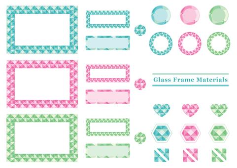 閃光玻璃框架材料春天的顏色