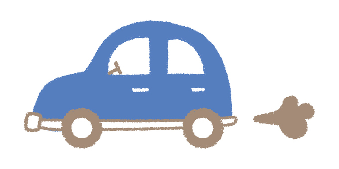 Hand-drawn car _ blue