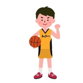 バスケをする男の子