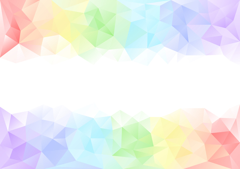Bright rainbow color polygon background