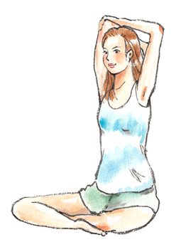 A woman stretching 1