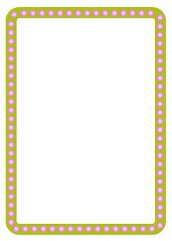 Pink pearl frame