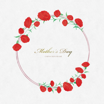 Spring Background Frame 067 Wreath Mother's Day