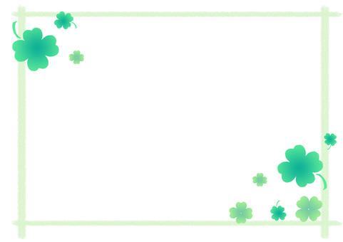 Frame of four-leaf clover ②