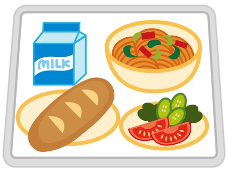 School lunches _ spaghetti