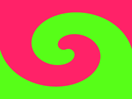 Complementary color swirl