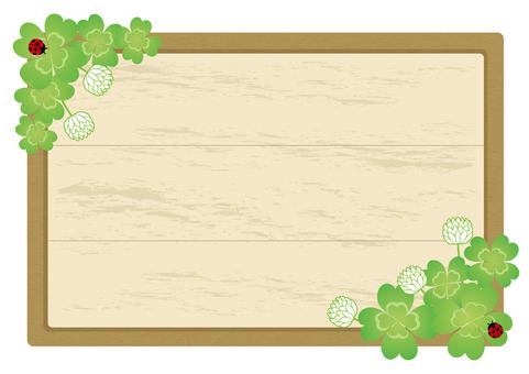 White clipper wooden board