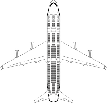 Flight plane cross-section illustration