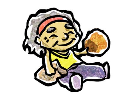 Rice crackers and grandma