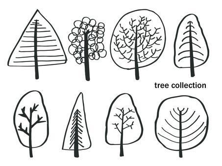 treecollection線藝術單色