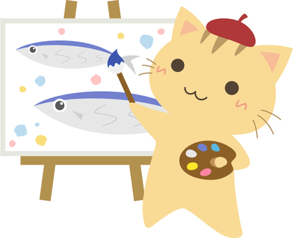 Cat's painter _ cat