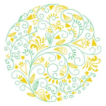 꽃 무늬 - 원형 03