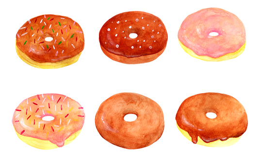 Donut watercolor illustration (1)