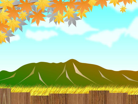 Country landscape in autumn