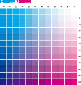 Color chart 6 cm