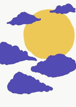 Simple moon and clouds