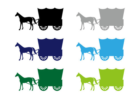 Carriage (top wagon silhouette 6-color set ①)