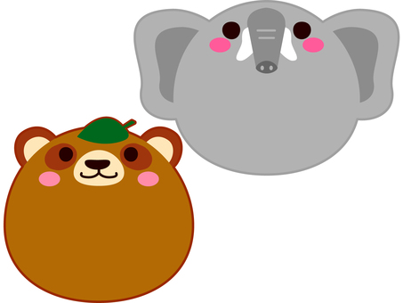 Face animal Rinku and elephant